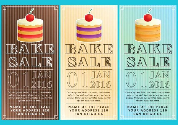 Bake Sale Flyer Template Free Luxury 18 Bake Sale Flyer Templates Adobe Shop