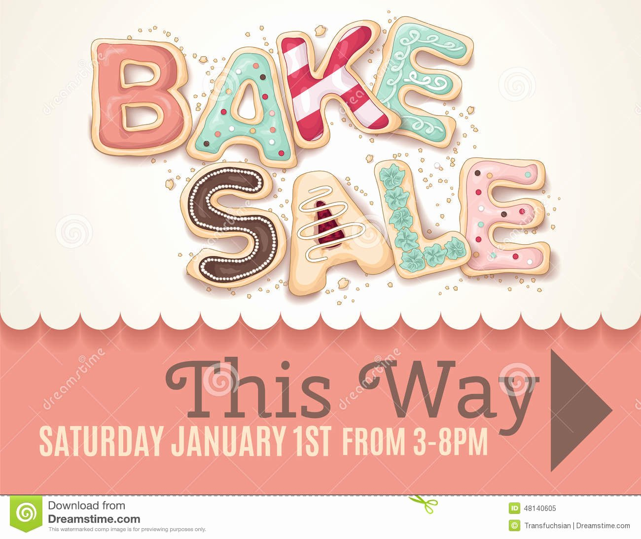 Bake Sale Flyer Template Free Luxury Bake Sale Sign Template Stock Vector Illustration Of