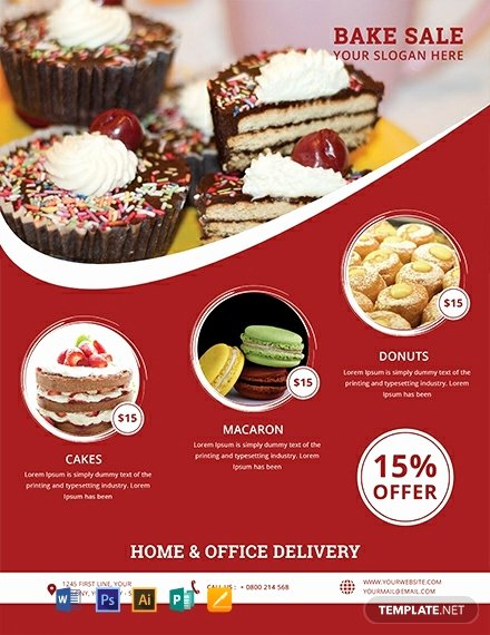 Bake Sale Flyer Template Free Luxury Free Printable Bake Sale Flyer Template Word