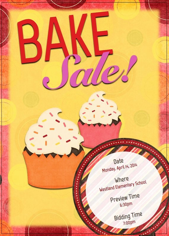 Bake Sale Flyer Template Fresh 17 Best Images About Flyers On Pinterest