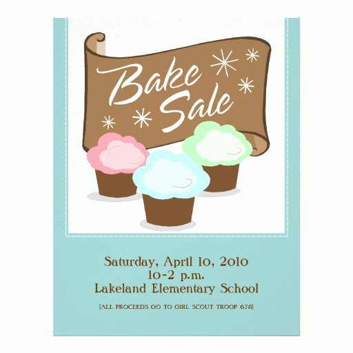 Bake Sale Flyer Template Fresh Bake Sale Flyers