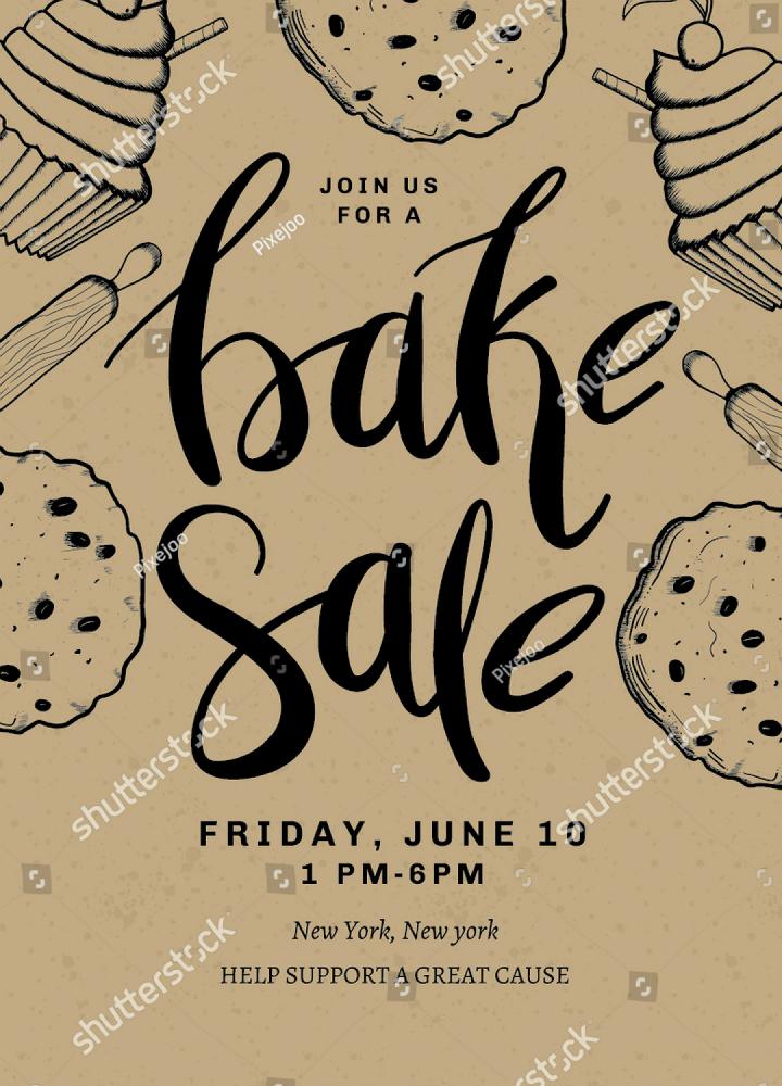 Bake Sale Flyer Template Inspirational 16 Restaurant Fundraising Flyer Designs & Templates Psd Ai