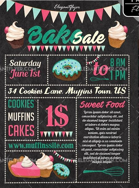 Bake Sale Flyer Template Inspirational Bake Sale Free Psd Flyer Template Psdflyer