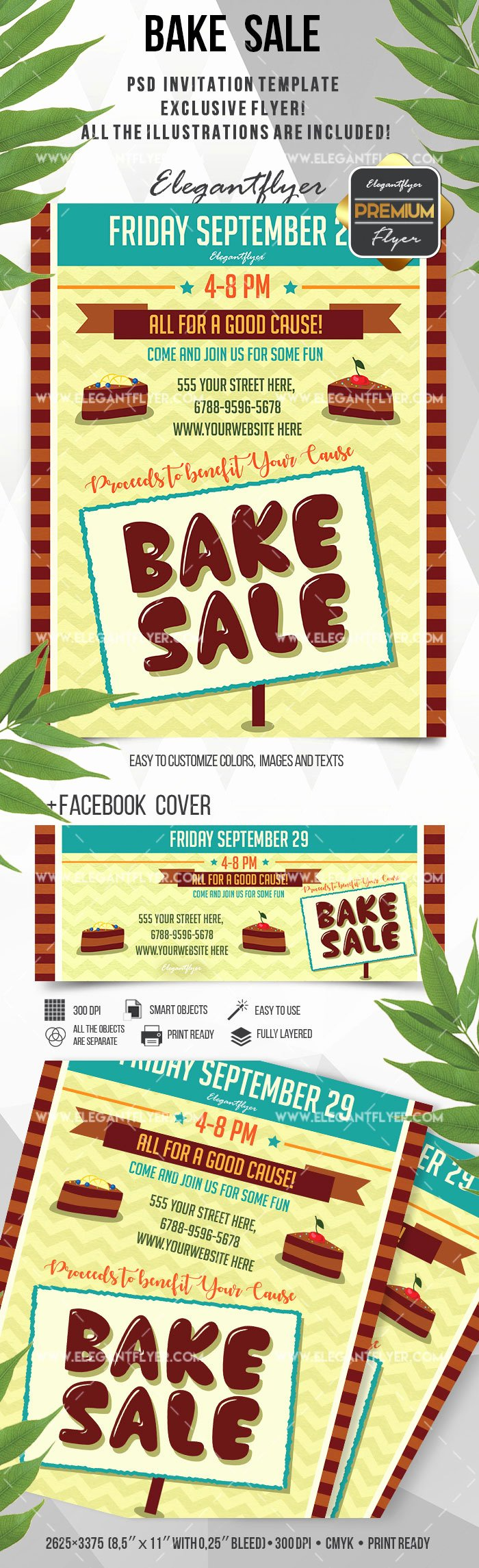 Bake Sale Flyer Template Inspirational Flyer for Bake Sale Bakery – by Elegantflyer