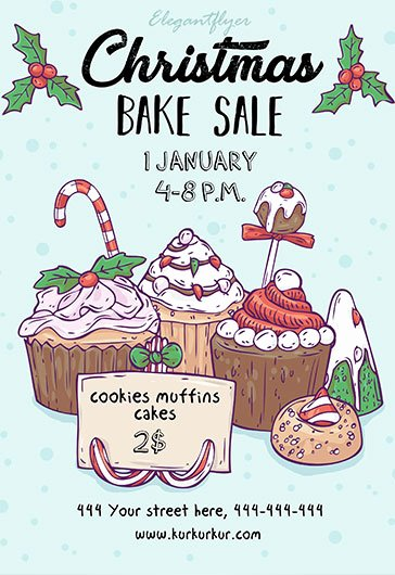 Bake Sale Flyer Template Inspirational Free Bake Sale Flyer Template In Shop – by Elegantflyer