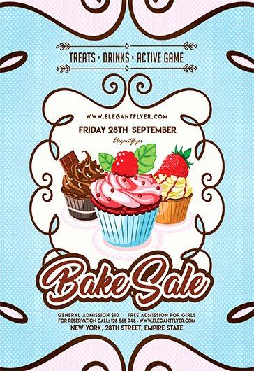 Bake Sale Flyer Template Lovely Free Flyer for Bake Sale – by Elegantflyer