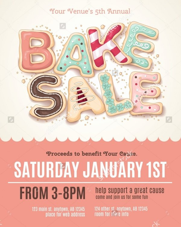 Bake Sale Flyer Template Luxury 32 Bake Sale Flyer Templates Ai Psd Publisher