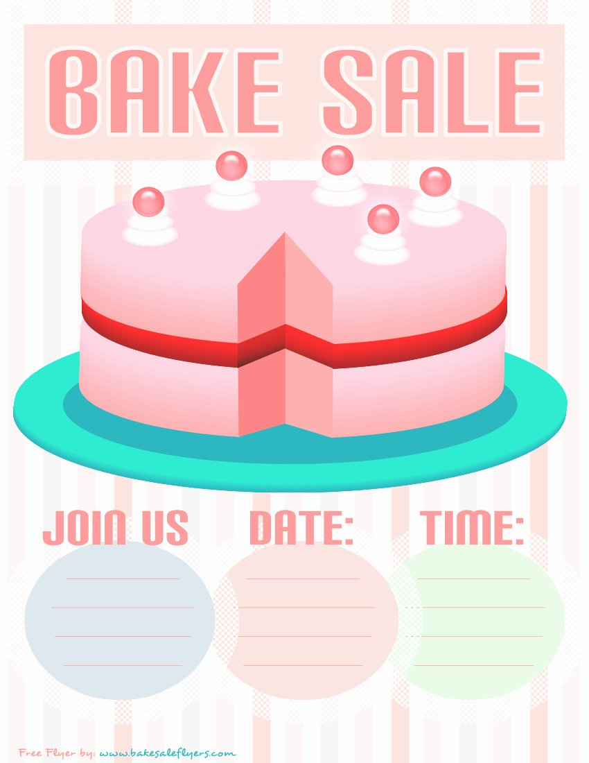 Bake Sale Flyer Template New Bake Sale Flyers – Free Flyer Designs