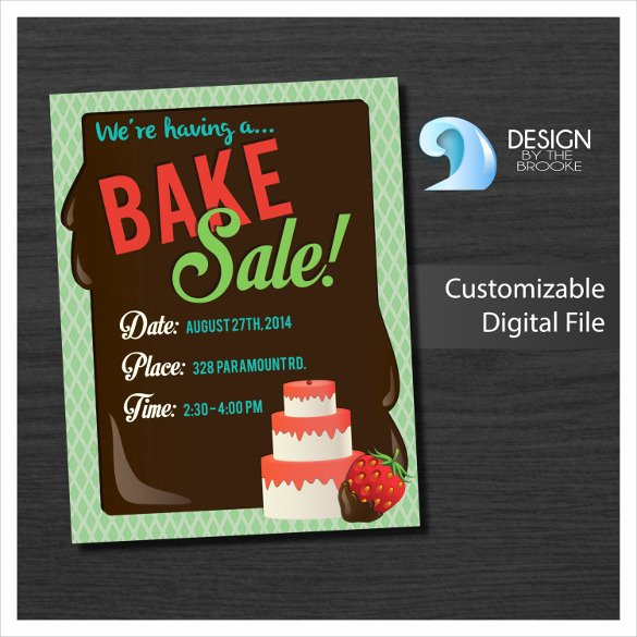 Bake Sale Flyer Template Unique 24 Bake Sale Flyer Templates Indesign Apple Pages Illustrator