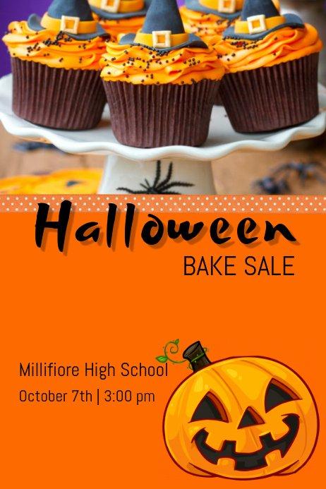 Bake Sale Flyer Template Word Inspirational Halloween Bake Sale Template