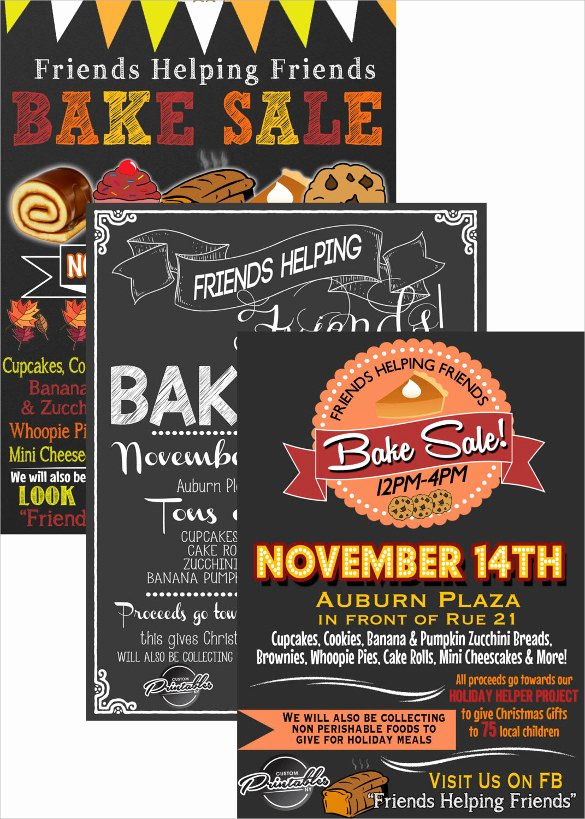 Bake Sale Flyer Templates Free Awesome 24 Bake Sale Flyer Templates Indesign Apple Pages