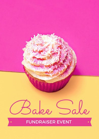 Bake Sale Flyer Templates Free Beautiful Pink and Yellow Bake Sale Fundraiser Flyer Templates by