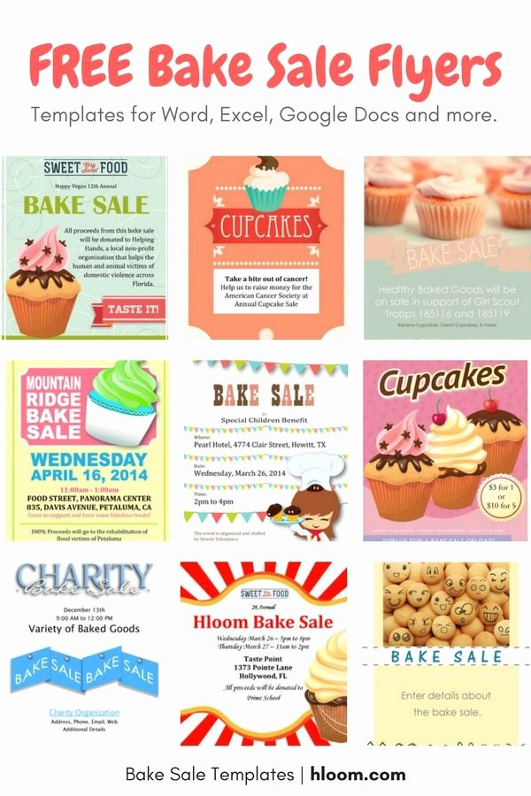 Bake Sale Flyer Templates Free Fresh 22 Best Bake Sale Flyers Images On Pinterest