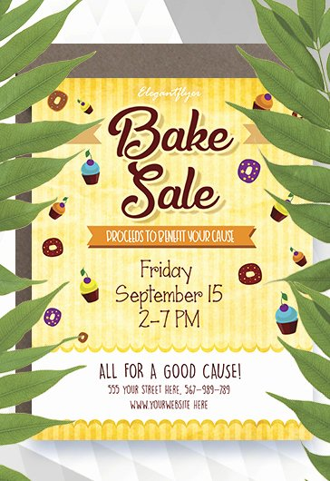 Bake Sale Flyer Templates Free Fresh Bake Sale Free Flyer Template – by Elegantflyer
