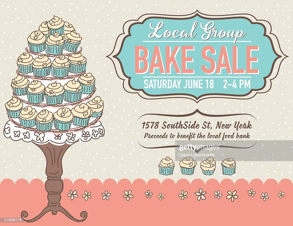 Bake Sale Flyer Templates Free Inspirational Cute Cartoon Bake Sale Flyer Template Vector Art