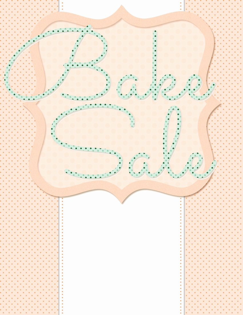 Bake Sale Flyer Templates Free Unique 5 Free Bake Sale Flyer Templates
