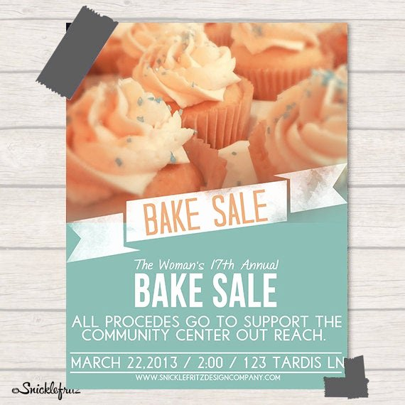 Bake Sale Flyers Templates Free Awesome Items Similar to Bake Sale Flyer Personalized Printable