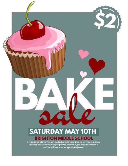 Bake Sale Flyers Templates Free Elegant Bake Sale Template