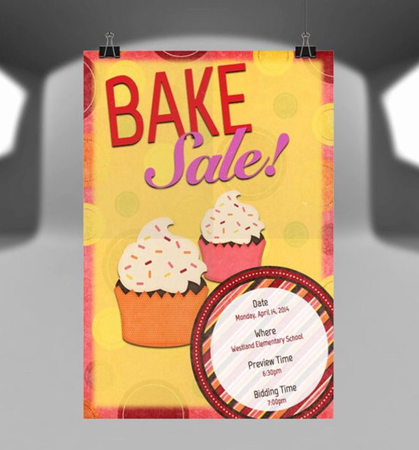 Bake Sale Flyers Templates Free Fresh 14 Sample Bake Sale Flyer Templates Psd Ai Word