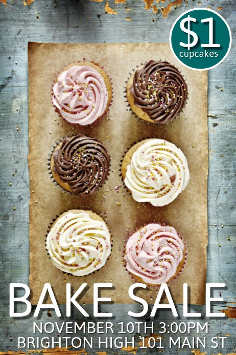 Bake Sale Flyers Templates Free Fresh Bake Sale Template