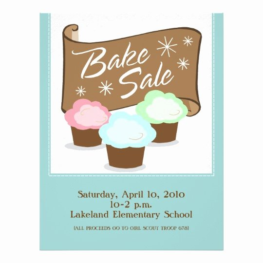 Bake Sale Flyers Templates Free Unique Bake Sale Flyers
