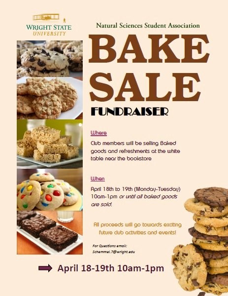 Bake Sale Flyers Templates Free Unique Bake Sale Natural Sciences Student association Fundraiser