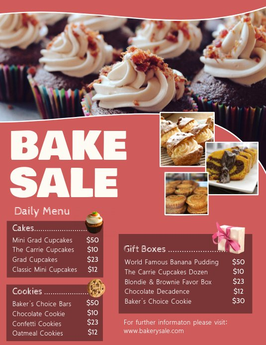 Bake Sale Fundraiser Flyer Template Awesome Bake Sale Pricelist Flyer Template