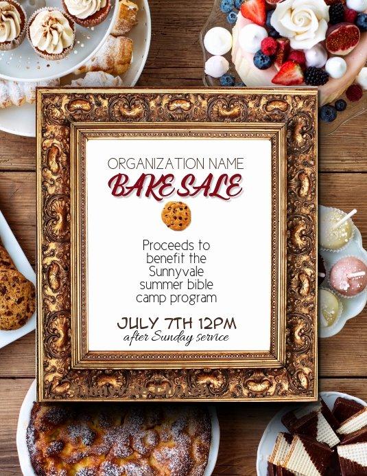 Bake Sale Fundraiser Flyer Template Best Of Fundraiser Bake Sale Flyer Template