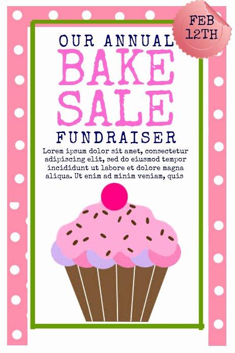 Bake Sale Fundraiser Flyer Template Elegant Bake Sale Template