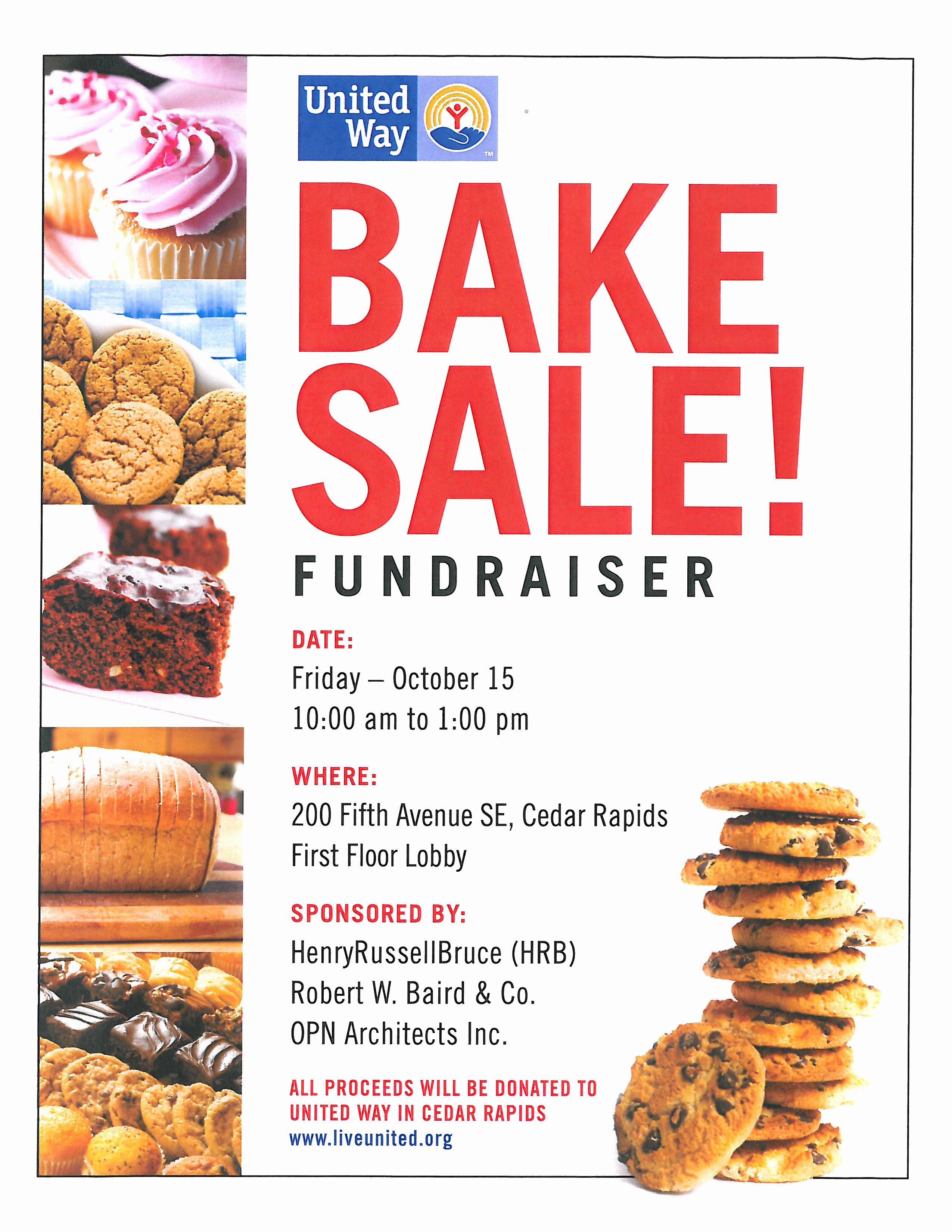 Bake Sale Fundraiser Flyer Template Elegant Word Design Gallery Category Page 12 Designtos