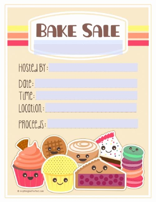 Bake Sale Fundraiser Flyer Template Fresh 17 Best Bake Sale Poster Ideas Images On Pinterest