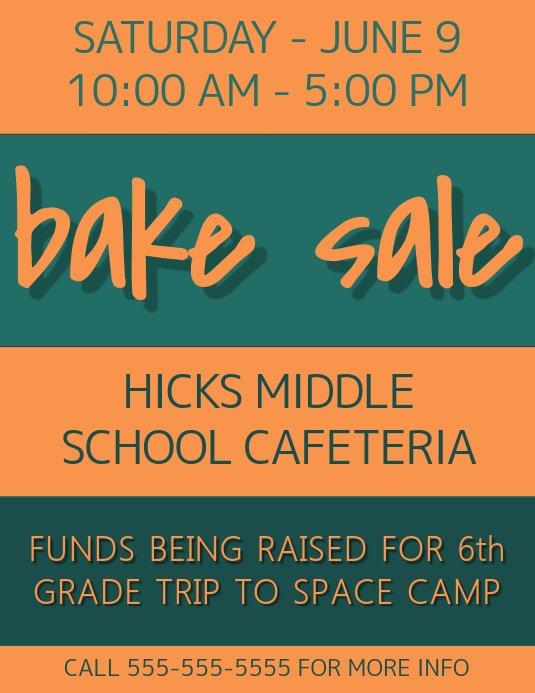 Bake Sale Fundraiser Flyer Template Fresh Fundraiser Flyer Template