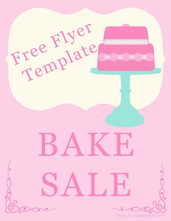 Bake Sale Fundraiser Flyer Template Inspirational Bake Sale Flyers – Free Flyer Designs