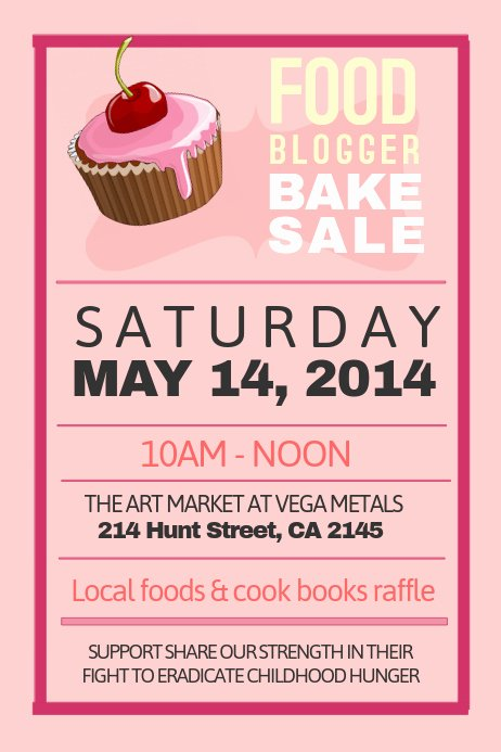 Bake Sale Fundraiser Flyer Template Inspirational Bake Sale Poster Template