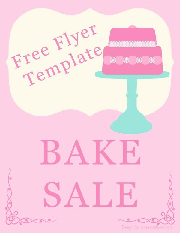Bake Sale Fundraiser Flyer Template Luxury Bake Sale Flyer Template Holidays & Happy Days
