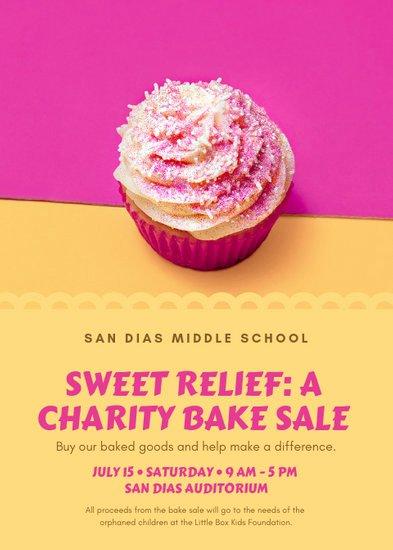 Bake Sale Fundraiser Flyer Template Luxury Customize 39 Fundraiser Flyer Templates Online Canva