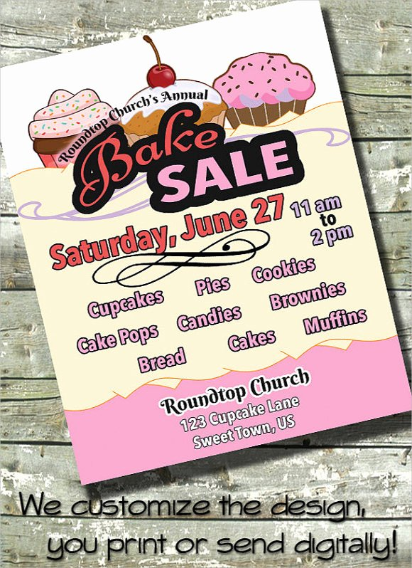Bake Sale Fundraiser Flyer Template New Free 21 Bake Sale Flyers Templates In Llustrator Indesign Ms Word Pages