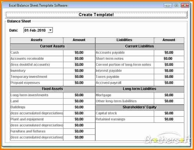 Balance Sheet Example Pdf Fresh Balance Sheet Example Excel