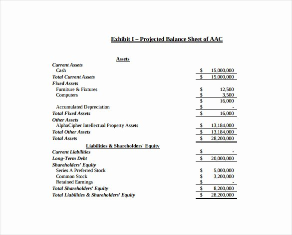 Balance Sheet Example Pdf Fresh Balance Sheet Template 16 Free Sample Example format Download