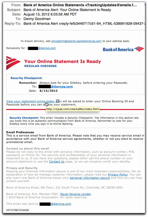 Bank Of America Statement Template Beautiful Spam Wars Our Last Best Chance to Defeat Spammers