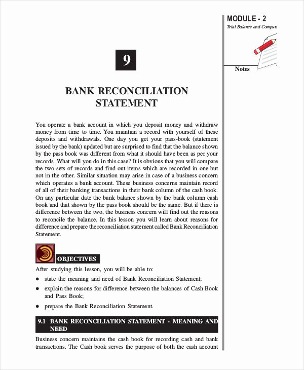 Bank Reconciliation Example Pdf Lovely Bank Reconciliation Example 5 Free Word Pdf Documents Download