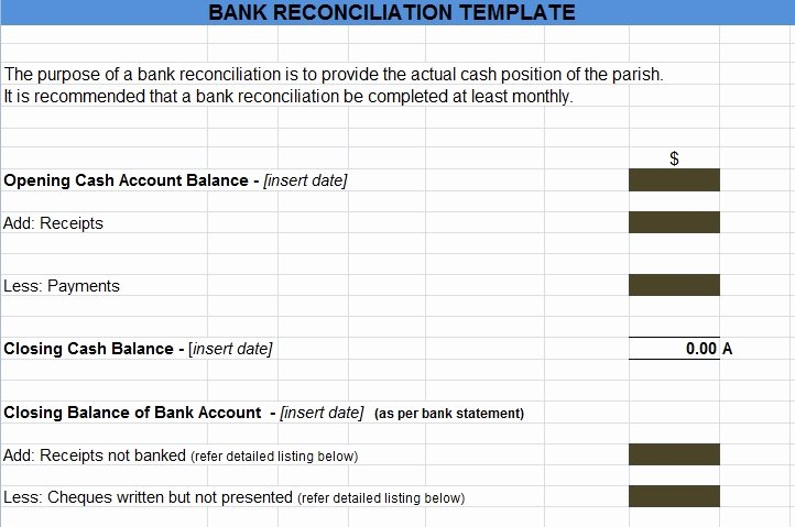 Bank Reconciliation Example Pdf Lovely Bank Reconciliation Template