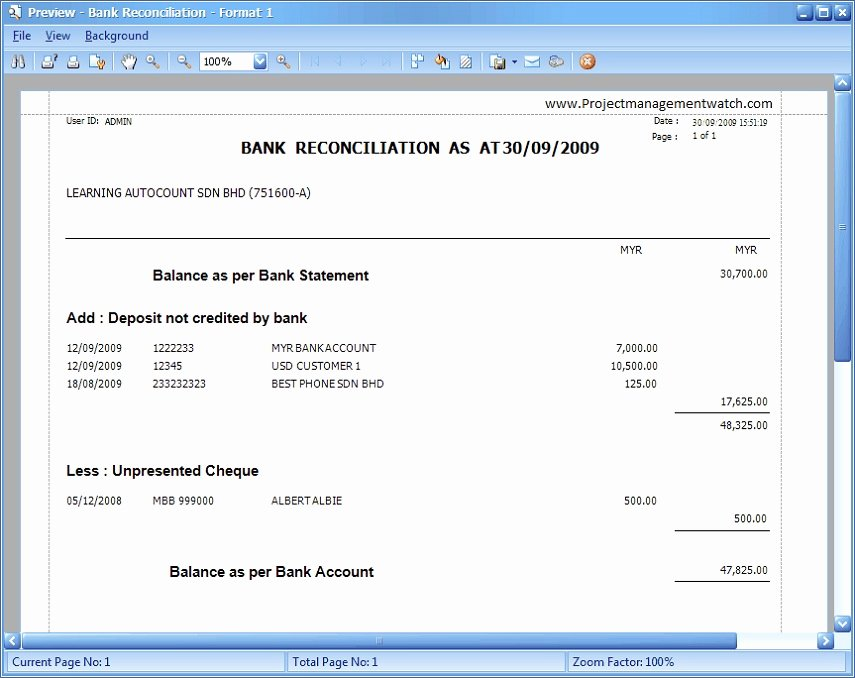 Bank Reconciliation Excel Template Awesome How Bank Reconciliation Statement Templates In Excel format Works Microsoft Project Management