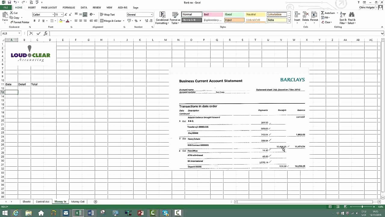 Bank Reconciliation Excel Template Fresh How to Do A Bank Reconciliation On Excel
