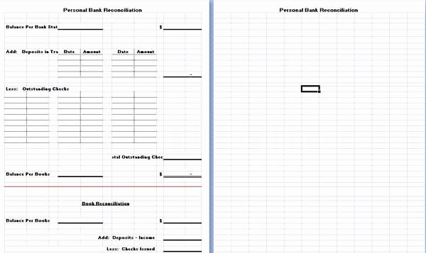 Bank Reconciliation Excel Template New Bank Reconciliation Template is Hereby Developed to assist People In This Regard E Can Use