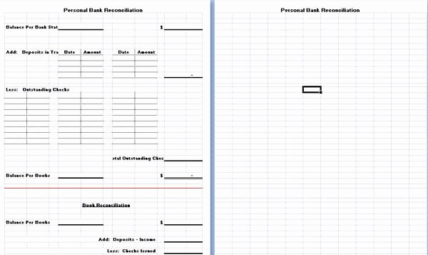 Bank Reconciliation form Excel Awesome Bank Reconciliation Template