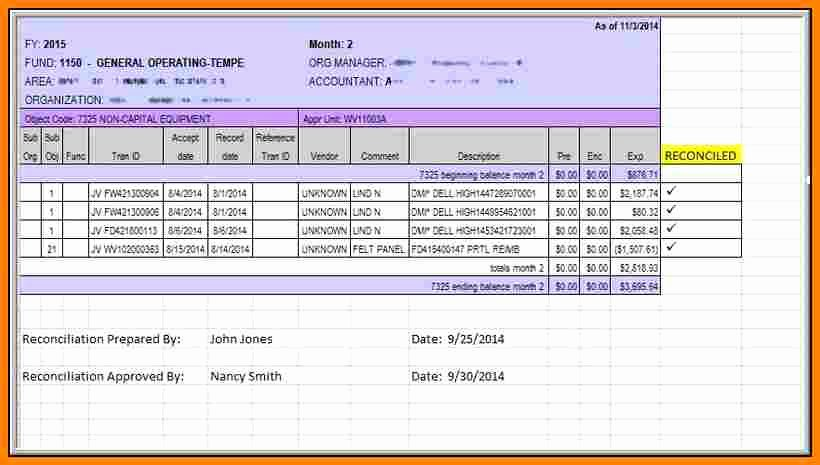 Bank Reconciliation form Excel Inspirational 6 Payroll Reconciliation Excel Worksheet