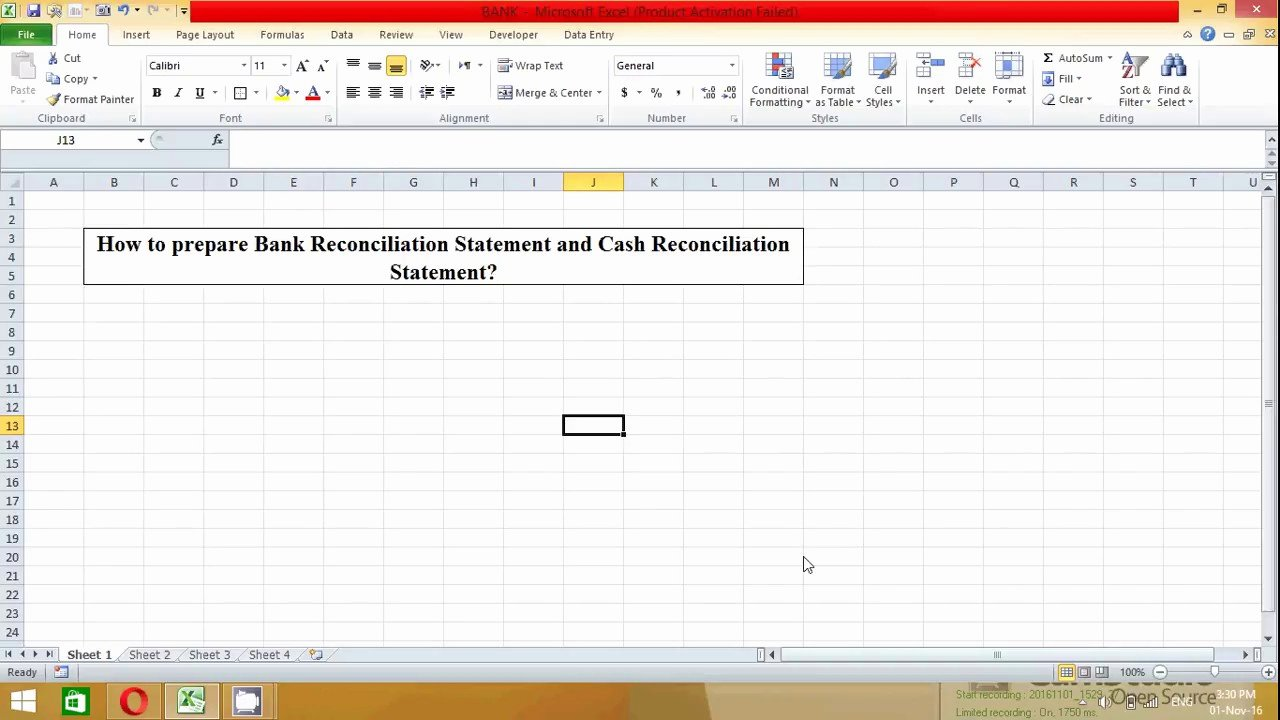 Bank Reconciliation form Excel Luxury How to Prepare Bank Reconciliation Statement In Excel Spread Sheet Samir