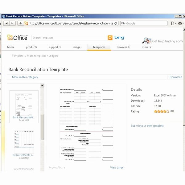Bank Reconciliation form Excel New Bank Reconciliation Template