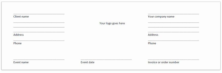 Banquet event order form Inspirational Beo Banquet event order Template and Explanation